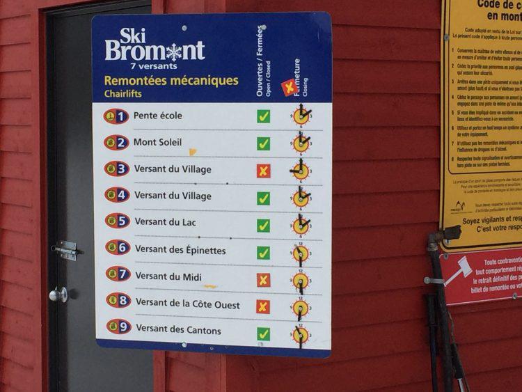 26 décembre 2016, Ski Bromont, de belles conditions avant le verglas…