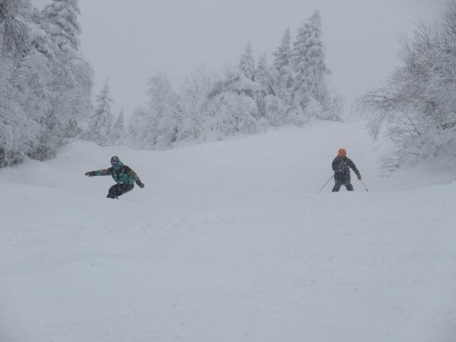 Le 17 décembre, Jay Peak.  Superbes conditions dans les pistes à bosses…