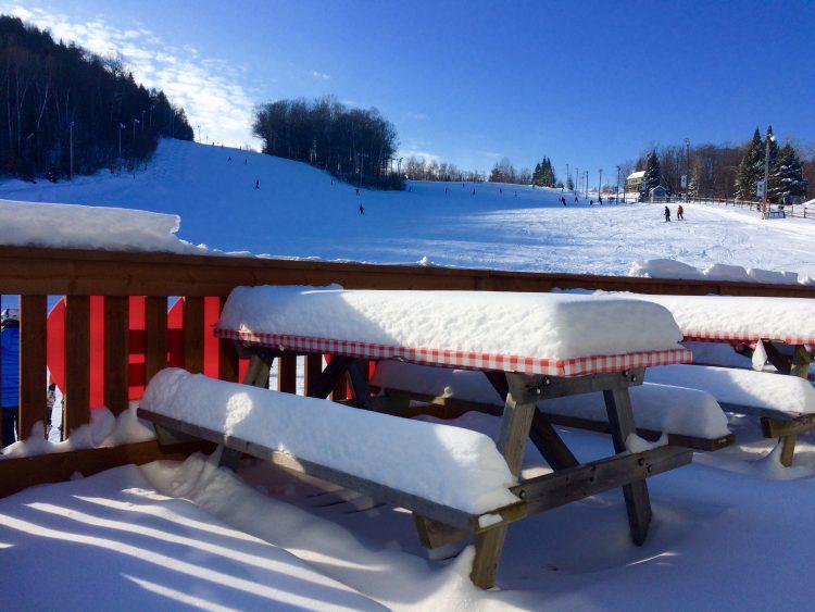 2 janvier 2017, Mont Gabriel: du soleil et de la chaleur.
