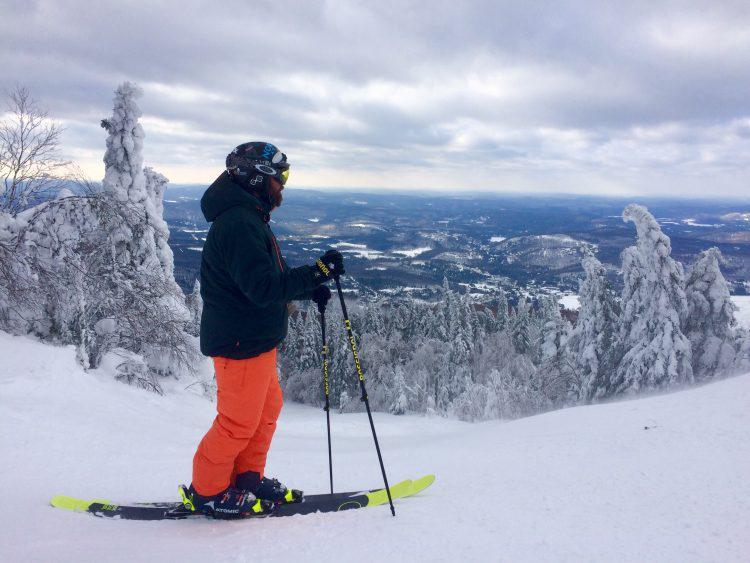 """11 janvier 2017, Mont Tremblant: le versant nord juste """"Wow"""""""