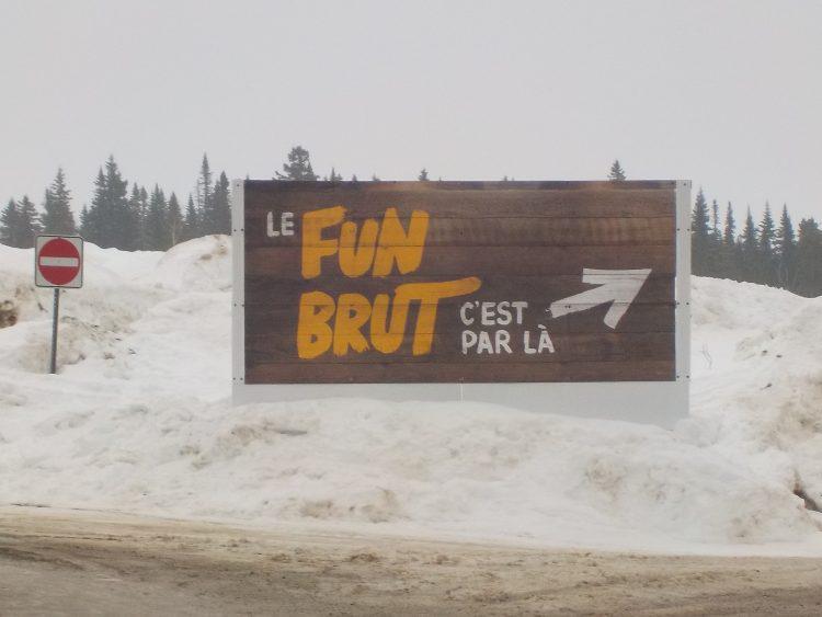 """Le 23 février 2017,  le Massif de Charlevoix, le """" Fun Brut """", le paradis est……."""