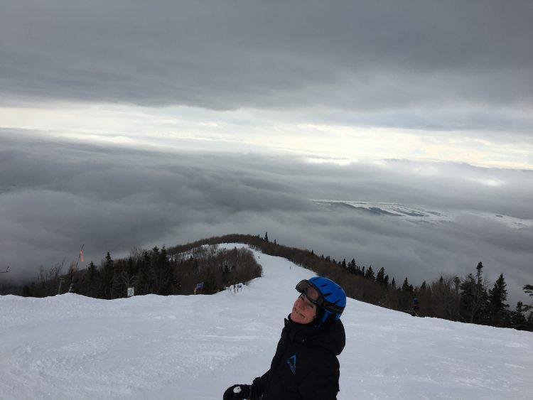 19 février 2017 – Mont Sainte-Anne – Skier au-dessus des nuages !