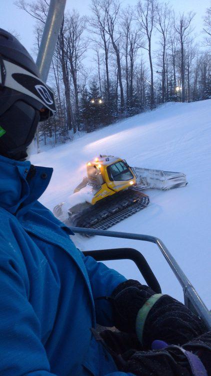 4 février 2017,  Première sortie de ski avec ma fille après un virus tenace