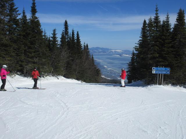 26 mars 2017. Le Massif de Charlevoix.  La Martine, belle piste, beau coup d'oeil…