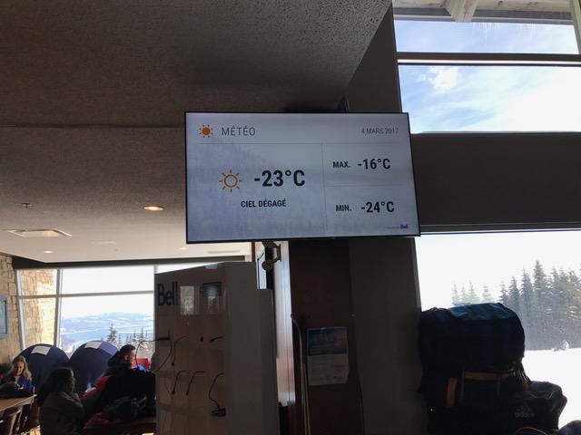 Le 4 mars 2017, Massif de Charlevoix, l'hiver toujours présent…!
