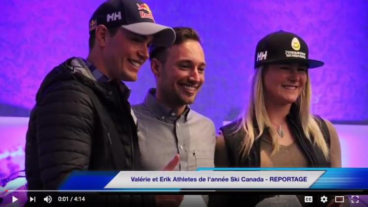 Vidéo : Erik Guay et Valérie Grenier athlètes de l'année à Ski Alpin Canada