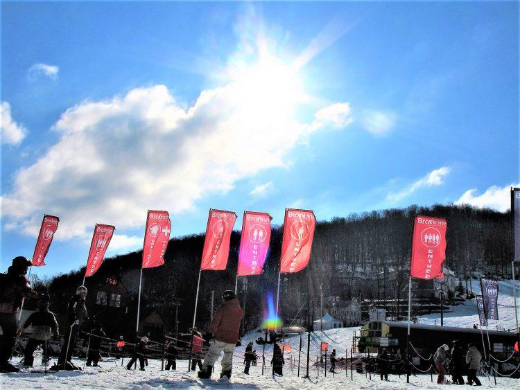 2 Avril 2017, Ski Bromont : Enfin le chaud soleil printanier