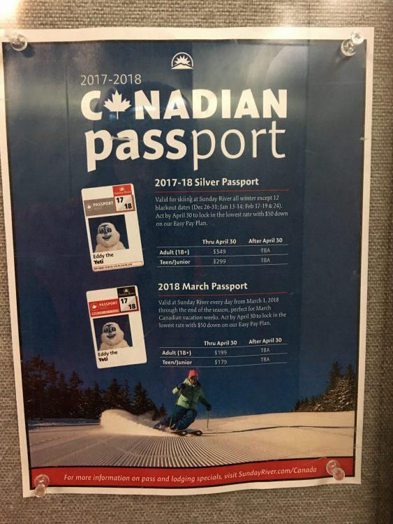 8 avril 2017 – Sunday River, MA – Les canadiens sont les bienvenus !