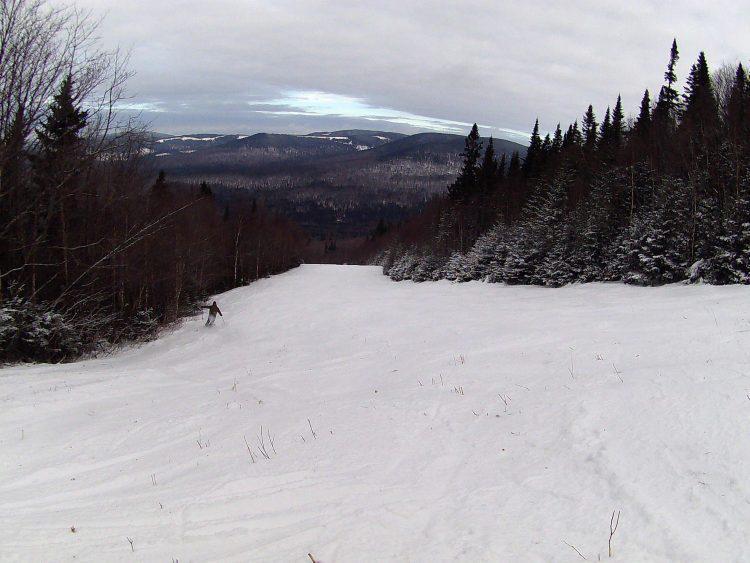 Mont-Sainte-Anne, Des pistes naturelles, 9 décembre 2017