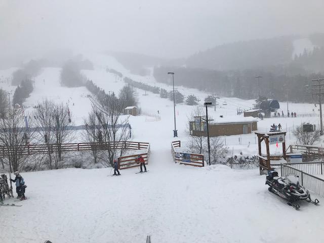 Stoneham le 23 décembre sous la neige…!