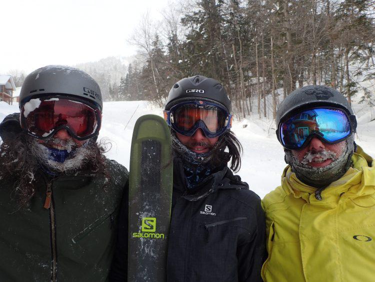 Mont Adstock, Froid extrême mais superbes conditions de ski en belle compagnie, 6 janvier 2018