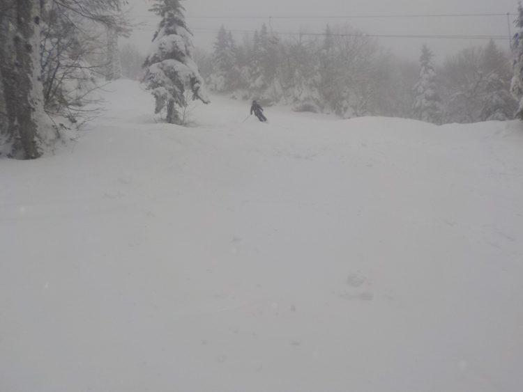 Mont Sutton, le 8 janvier 2018, neigé toute la journée, quel bonheur,  12 centimètres de plus