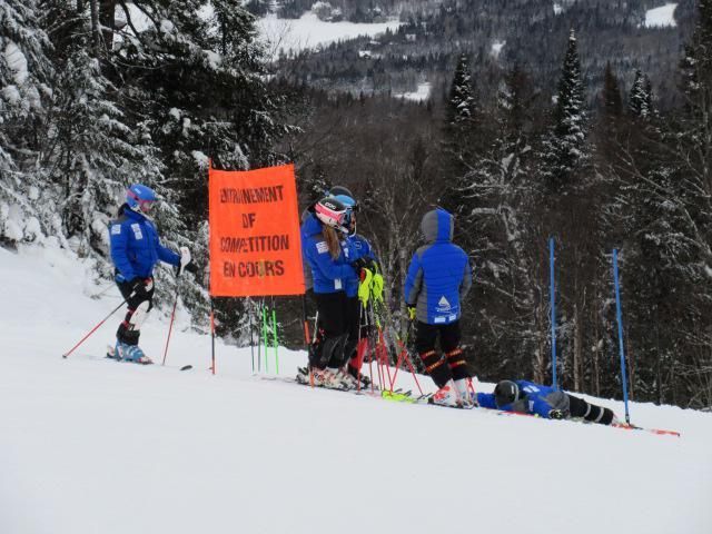 Ski la Réserve. Un peu de bleu dans cette journée grise…  Le 7 janvier 2018