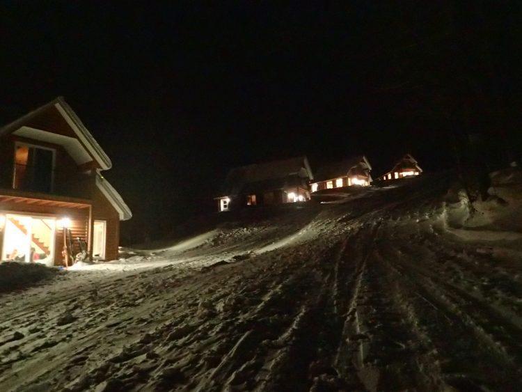 Mont Adstock offre du vrai ski-in ski-out, 6 janvier 2018