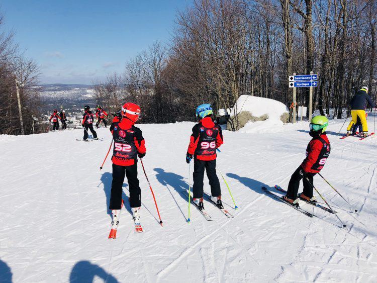 Sommet St-Sauveur – Soleil et compétition – 18 février 2018