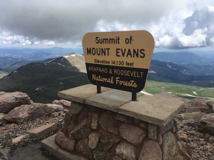 Le sommet du Colorado.