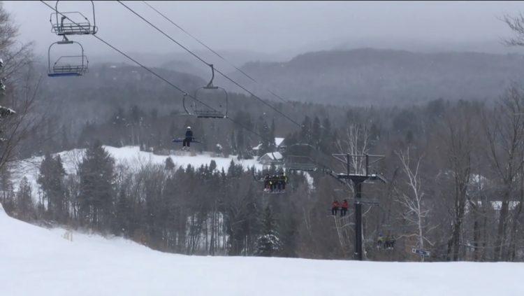 Ski Montcalm.  Une vraie station familiale.  Le 9 décembre 2018.