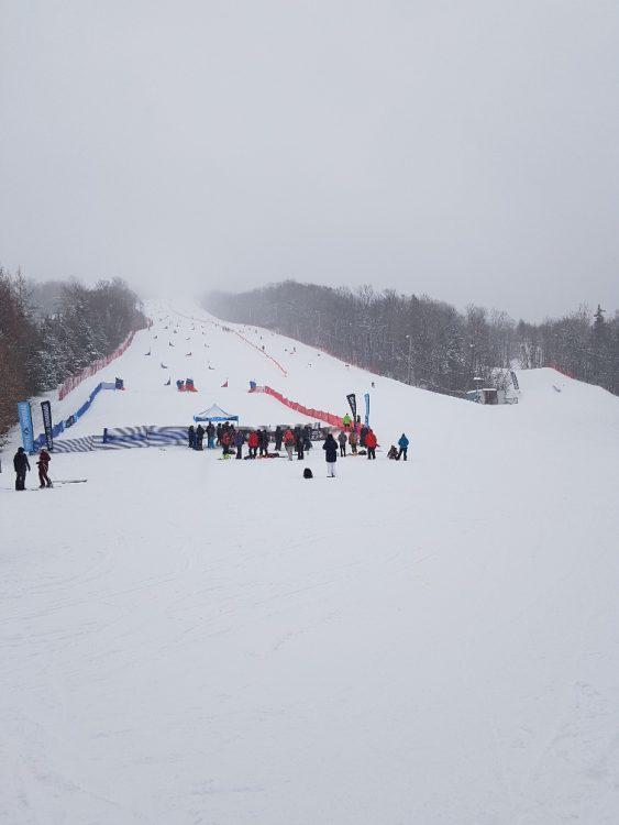 Le Relais le 4 janvier: Encore de la neige et début des NORAM pour conclure ce voyage à Québec.