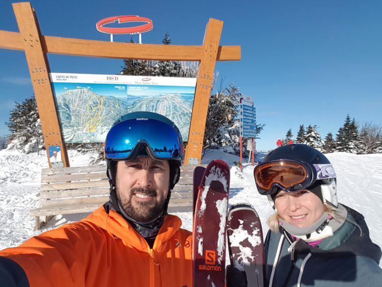 Mont Sainte-Anne – 15 janvier 2019 – Bleu, blanc et calme!!