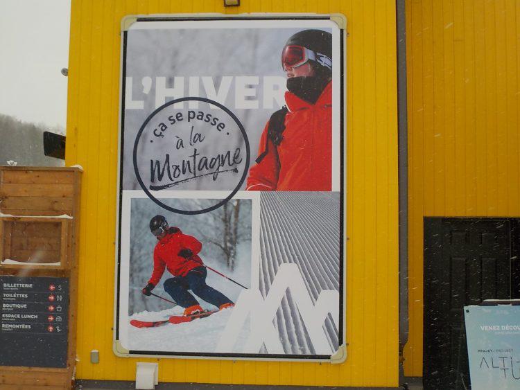 Ski Bromont, mercredi le 9 janvier 2019, L'hiver ça se passe à la montagne.