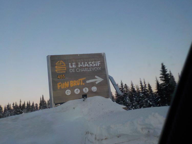 Le Massif de Charlevoix, le 12 janvier 2019. Quelle chance de pouvoir skier Le Massif