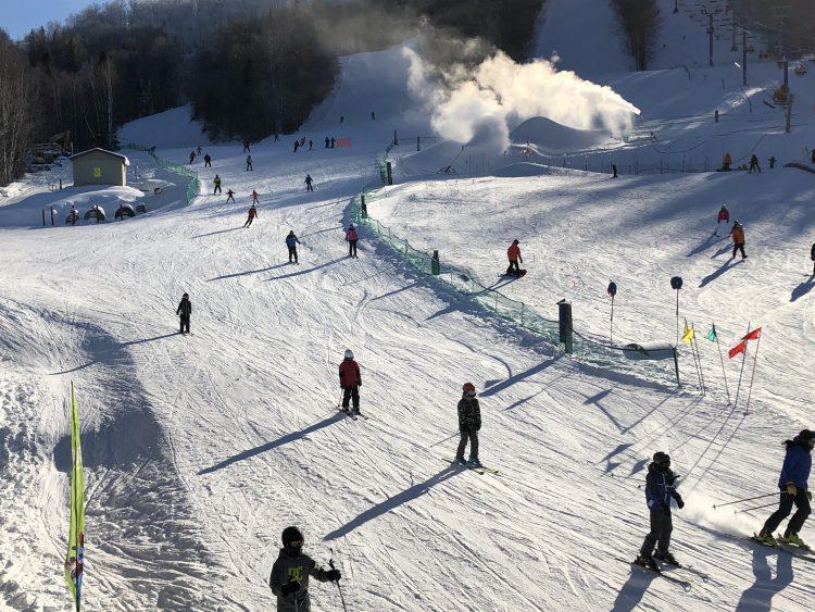Ski Mont Blanc.  Le festival du cache-tout.  Le 12 janvier 2019