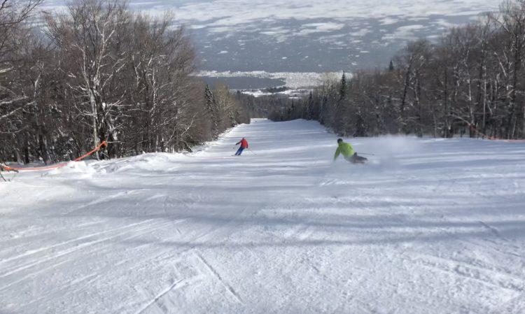Superbe journée de ski au Massif de Charlevoix!