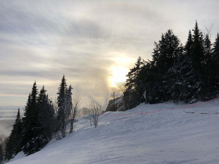Mont Ste Anne – 2 janvier 2019 : Pas chaud…