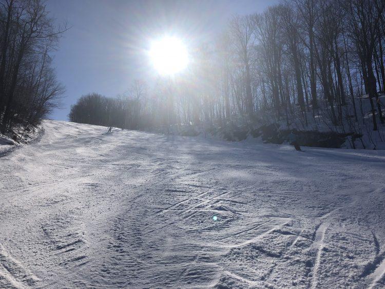 Sommet Bromont 10 février 2019, On profite du beau temps pour sortir dehors !!!