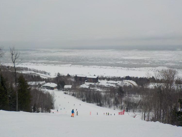 Le Massif de Charlevoix, lundi le 4 mars 2019, LA MONTAGNE, que tous veulent au moins skier une fois par hiver.