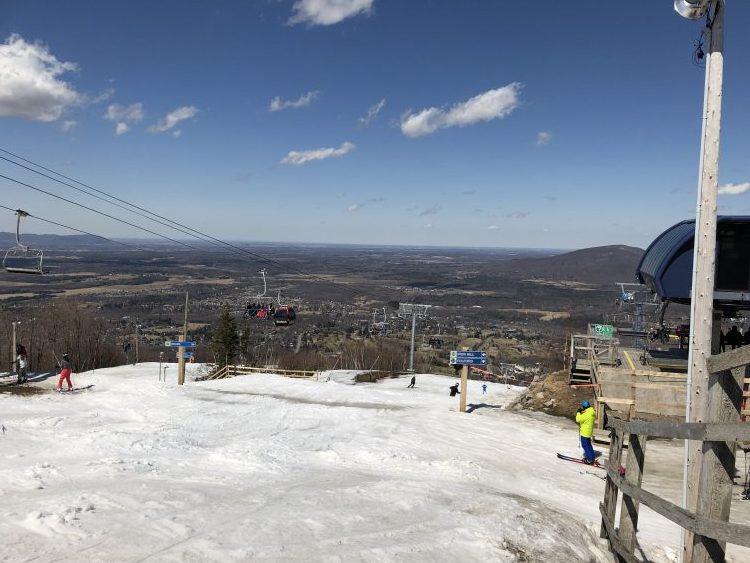 Ski Bromont, 17 degrés et gros soleil,2019-04-13