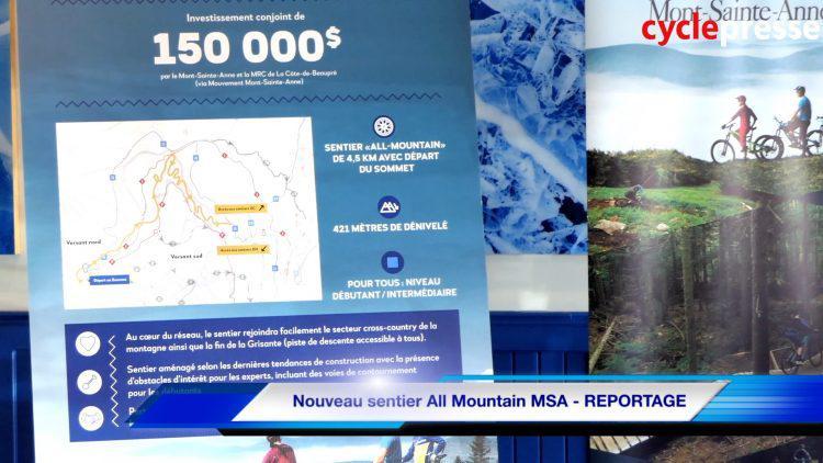 Nouveau sentier All Mountain MSA – REPORTAGE
