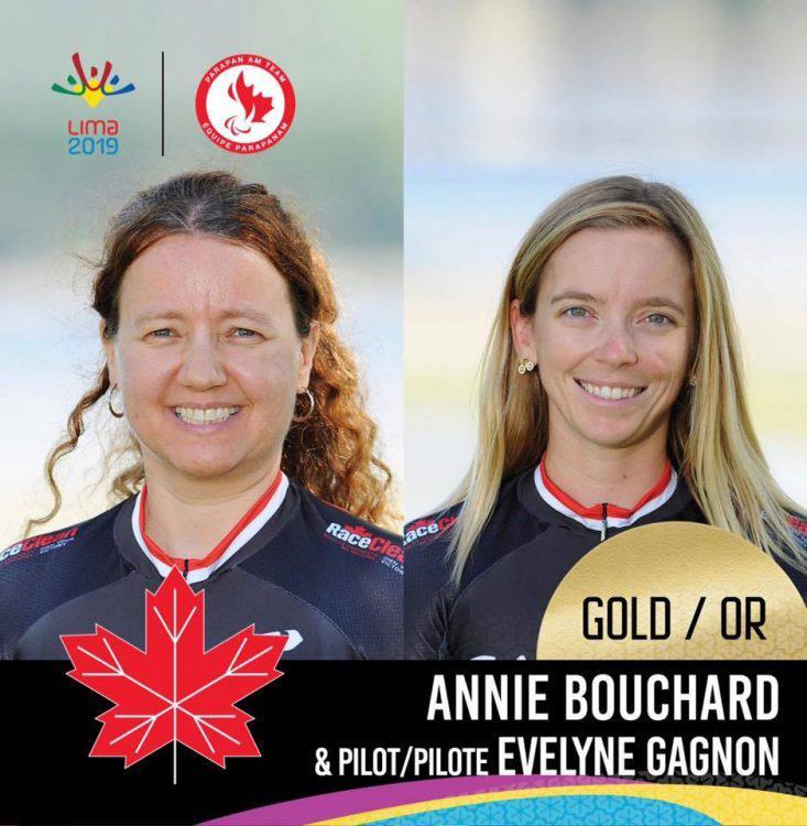 Médaille d'argent aux Jeux Parapan Américains – Tandem