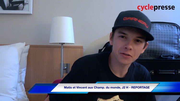 Matis et Vincent aux Champ. du monde, J2 H – REPORTAGE