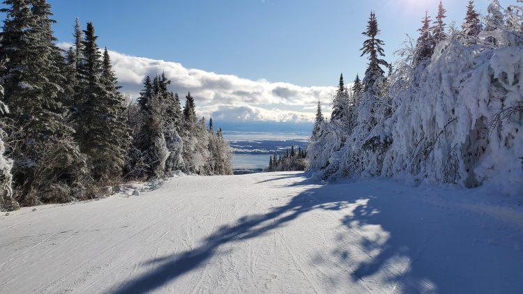 Un semblant de ski de printemps au Mont Sainte-Anne, 28 décembre 2019