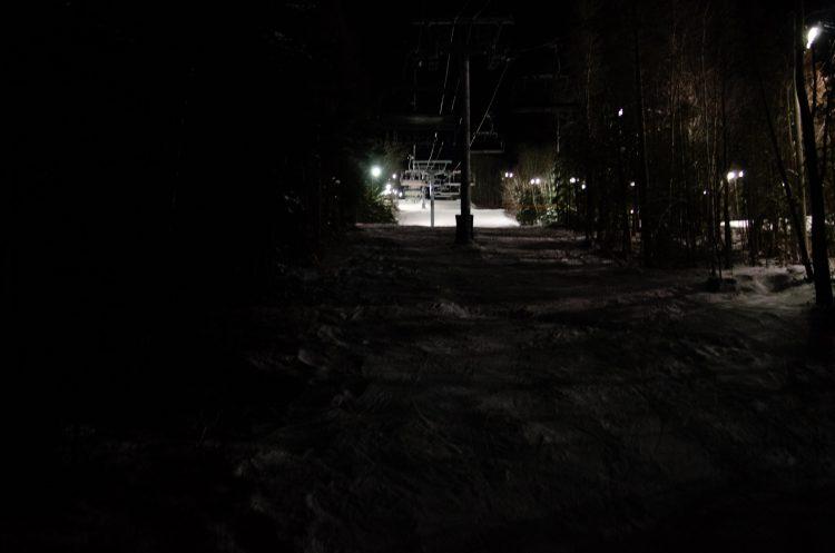 Une partie du trajet est dans le noir!