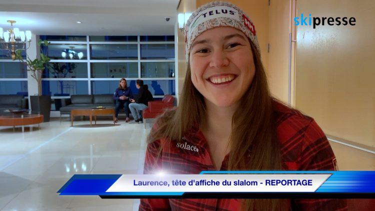 Laurence, tête d'affiche du slalom – REPORTAGE