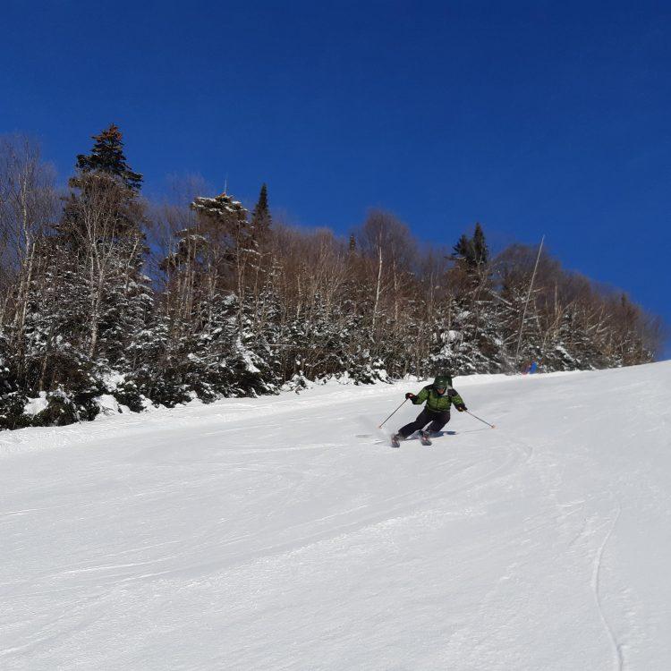 Mont Tremblant – ciel bleu et bonheur – vendredi 31 janvier
