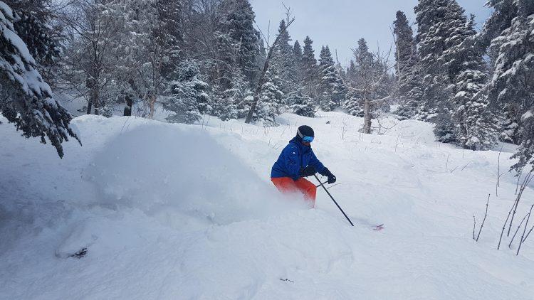 Massif de Charlevoix – exploration du secteur hors-piste avec poudreuse à volonté – 28 février