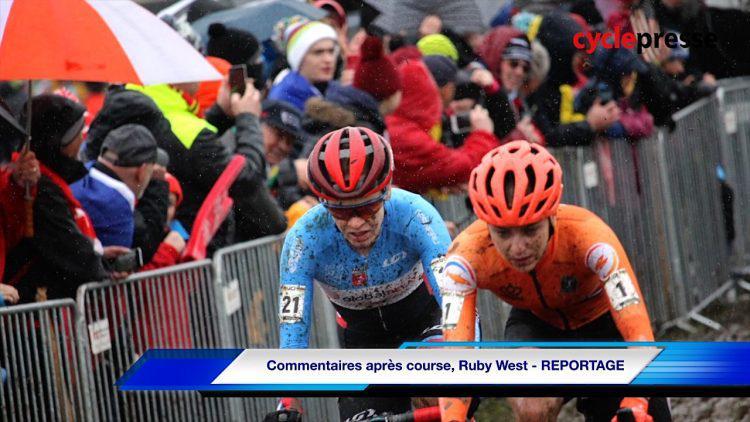 Commentaires après course, Ruby West   REPORTAGE