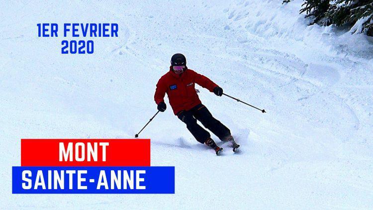 Mont Sainte-Anne- Une belle surprise malgré une journée grise!-1 février 2020