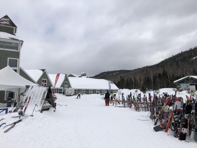 Mont Édouard – Neige et vent! – 14 mars 2020