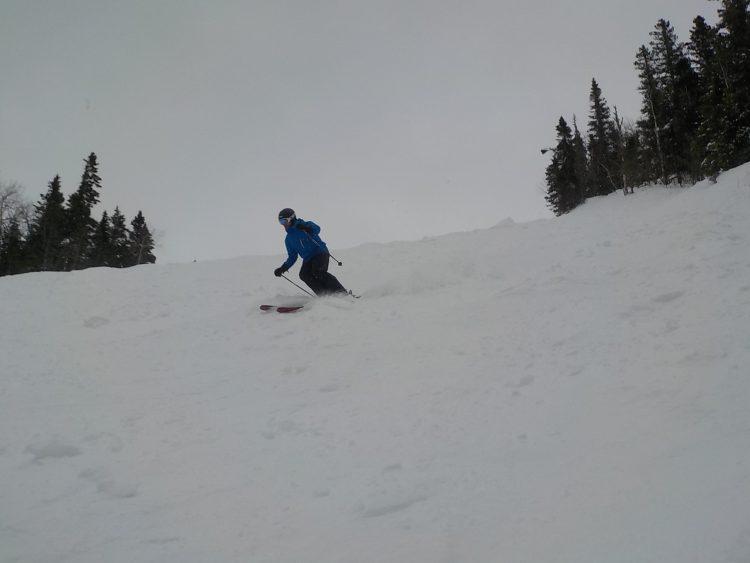 Mont GRAND-FONDS, Charlevoix, Jour de poudreuse pour tous, 45 cm.en 24 heures. Samedi le 14 mars 2020.