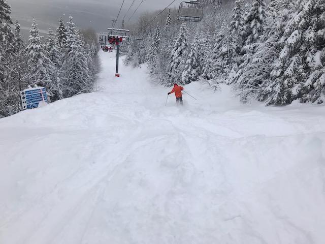 Massif de Charlevoix après 37 cm de neige  le 14 mars 2020