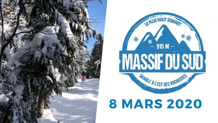 Ski au Massif du Sud – pas tout à fait le printemps – 8 mars 2020