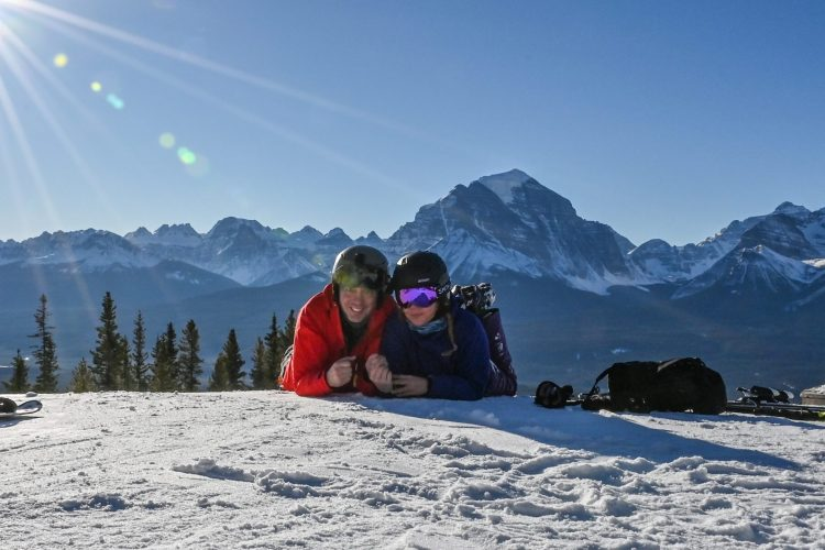Lake Louise  5-12-2020 : Un terrain de jeu merveilleux!  A wonderful ski playground!