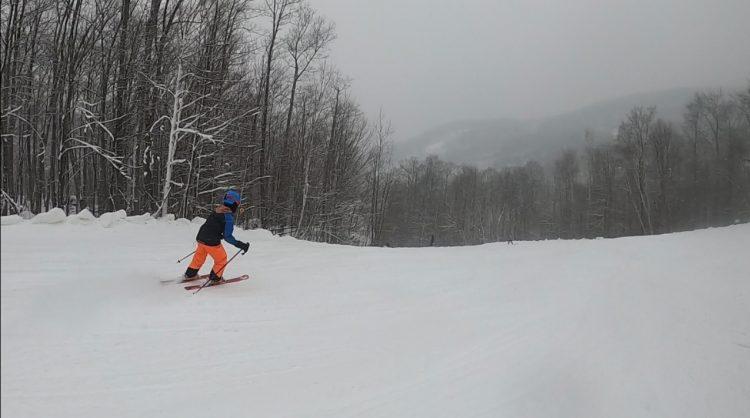 Sommet Morin Heights sous la neige