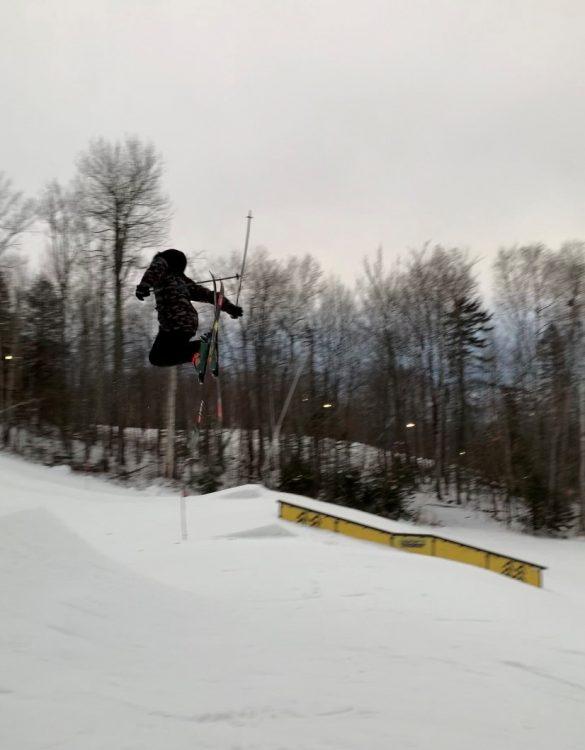Des rookies en ski! @Sommet Saint-Sauveur