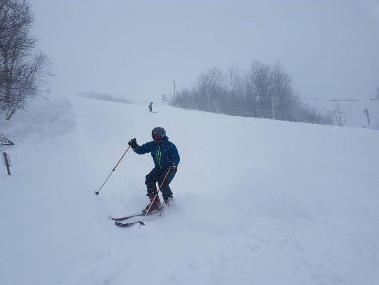 Une belle tempête à Ski Bromont —  beaucoup de plaisir dans les sous-bois