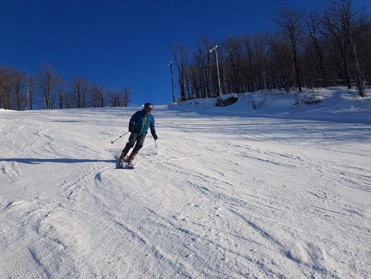 Il fait beau mais c'est frette ! à ski Bromont en ce vendredi 12 février